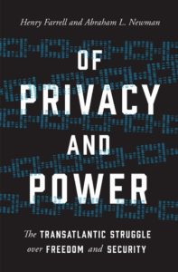 """Of Privacy ad Power"" Book Cover"